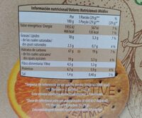 Galletas con soja, manzana y naranja - Informació nutricional - es