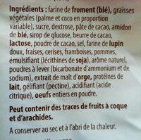 Assortiment de biscuits et gaufrettes - Ingredients - fr