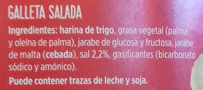 Galletitas saladas - Ingredients