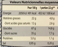 Biscuits au cacao fourrage lacté - Voedingswaarden - fr