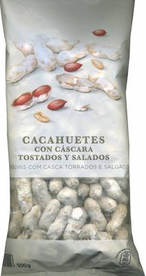 Cacahuetes con cáscara tostados con sal - Produit