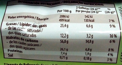 Avena-Chocolate - Informations nutritionnelles