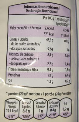 Pipas Gigantes Tostadas AguaSal - Informació nutricional