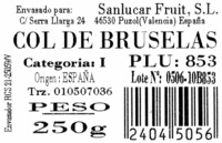 Coles de Bruselas - Ingredients