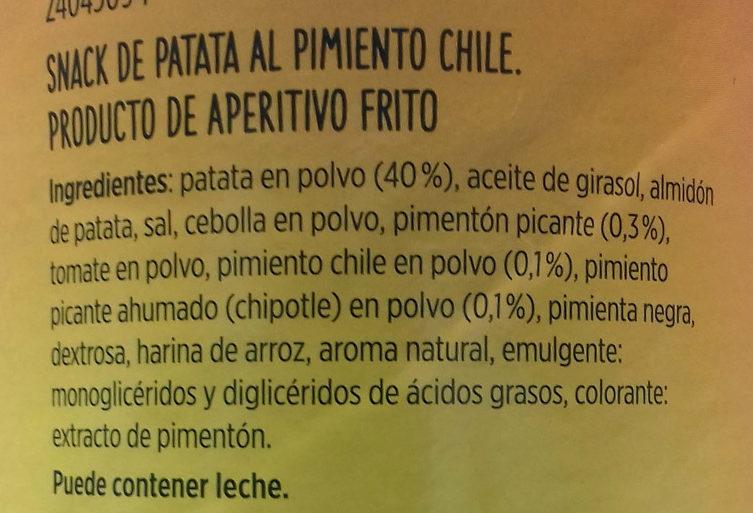 Apertivo de patata al chili - Ingredients