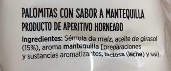 Palomitas con sabor a mantequilla - Ingrédients - es
