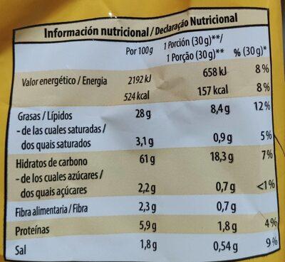 Palomitas con sabor a mantequilla - Informations nutritionnelles - es