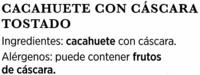 Cacahuetes con cáscara tostados sin sal - Ingrédients - es
