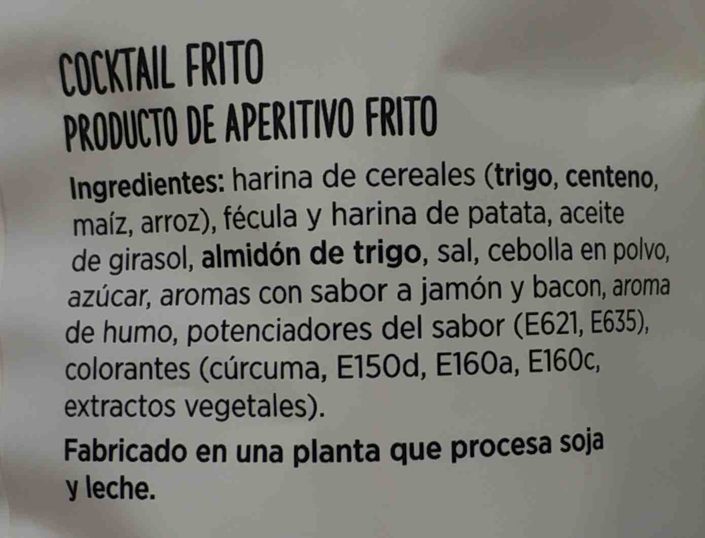 Cocktail frito - Ingredientes
