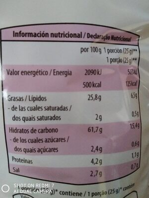 Cocktail frito - Nutrition facts