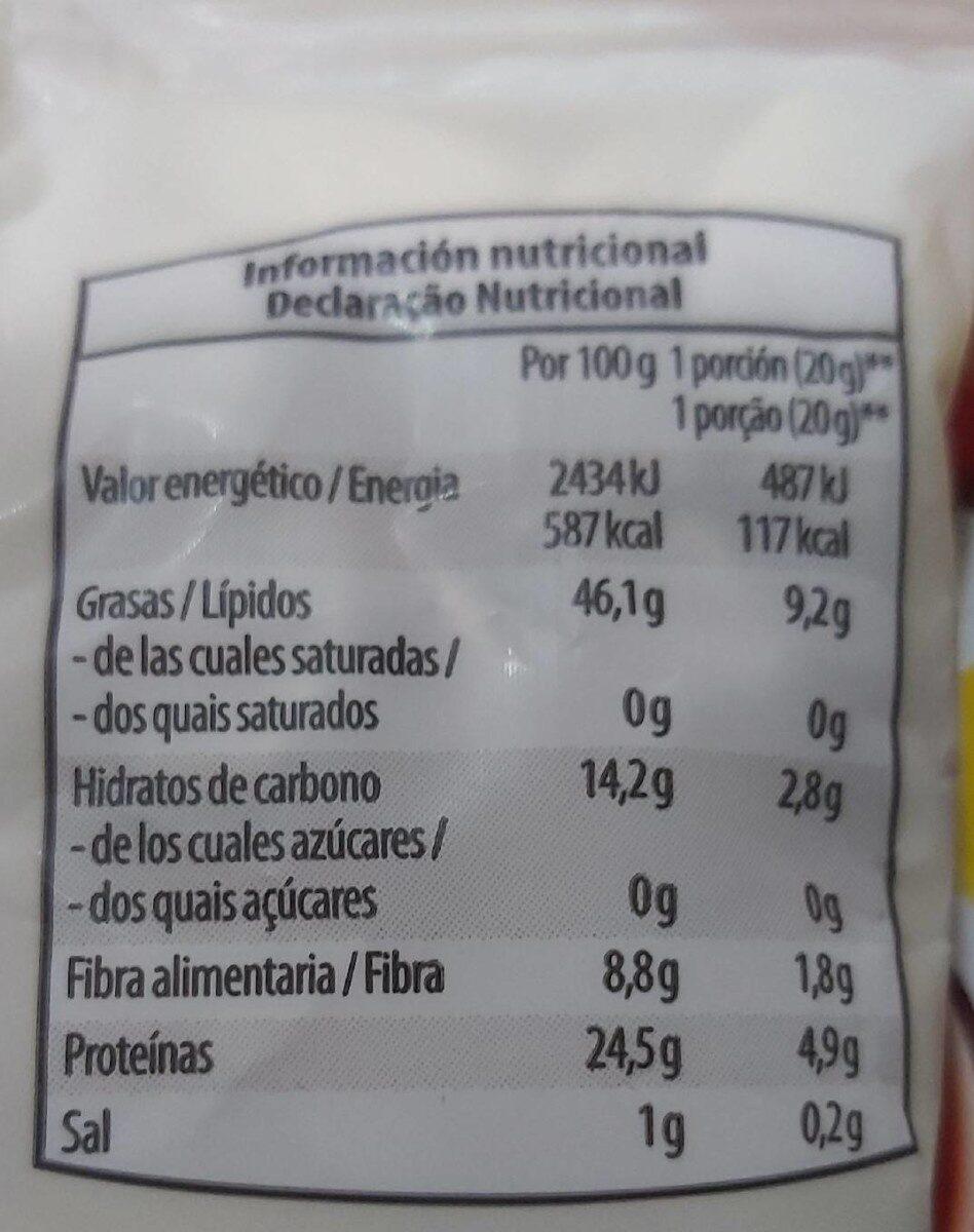 Pipas de Calabaza Tostadas - Información nutricional - es