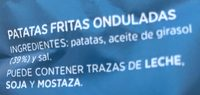 Patatas onduladas - Ingredients