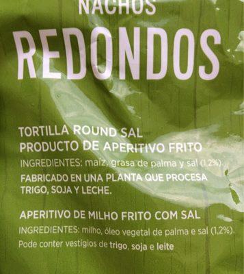 Nachos redondos - Ingrédients