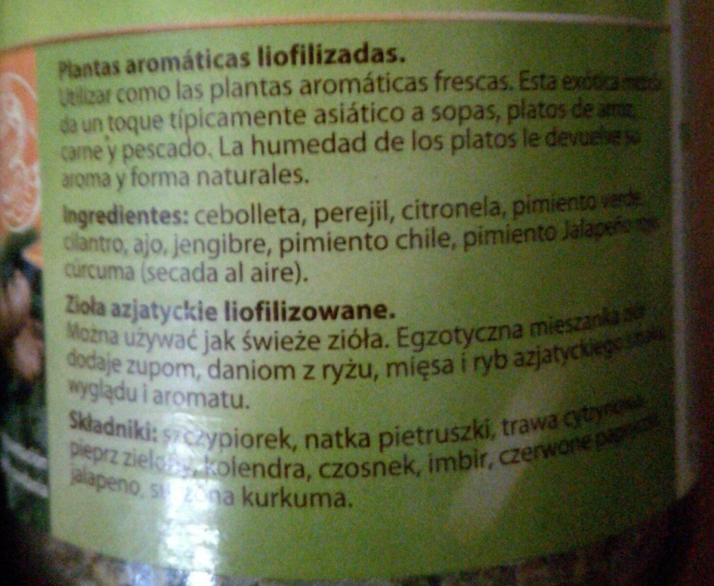 Plantas aromáticas - Informació nutricional - es