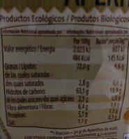 Tortilla de maiz - Informations nutritionnelles - es