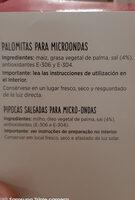 Palomitas saladas - Ingredienti - es