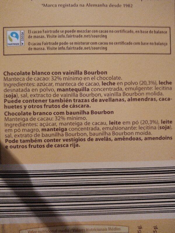 Chocolate con caramelo - Ingredients - es