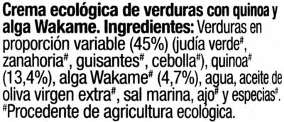 Crema de verduras - Ingrédients