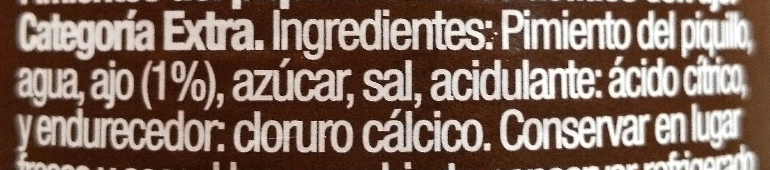 Pimientos del Piquillo con Ajo - Ingredientes - es