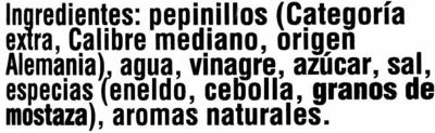 Pepinillos agridulces - Inhaltsstoffe