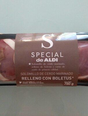 Solomillo de cerdo marinado  relleno con boletus - Produit