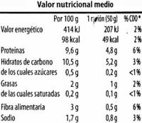 Altramuces encurtidos - Información nutricional