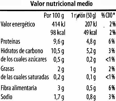 Altramuces encurtidos - Voedingswaarden - es
