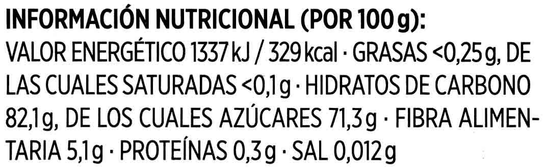 Arándanos Rojos - Información nutricional - es