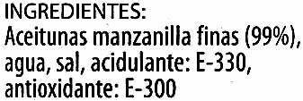 """Aceitunas verdes deshuesadas """"El Cultivador"""" Variedad Manzanilla - 1"""