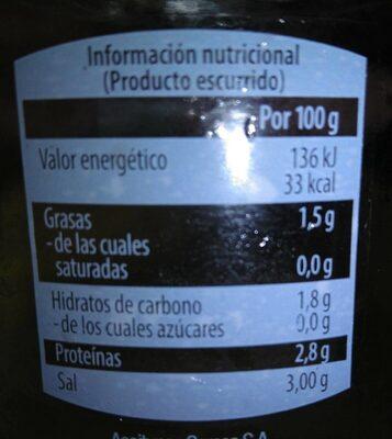 Banderillas picantes - Voedingswaarden - es