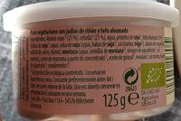 Paté vegetariano Hummus - Ingredientes