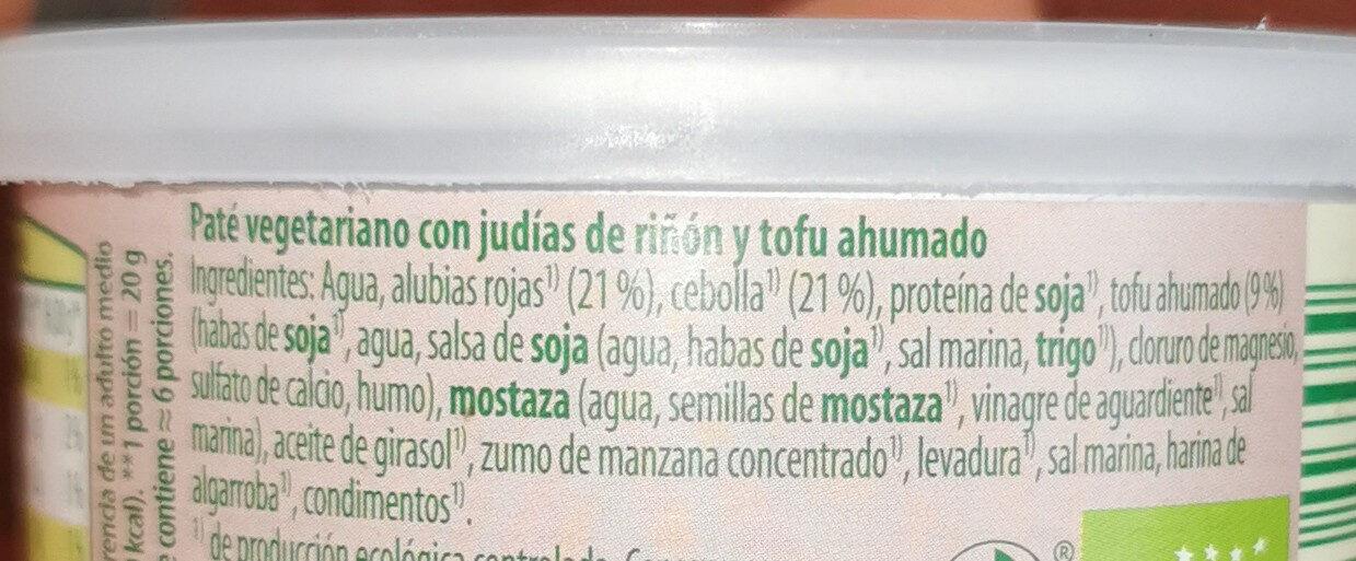 Paté vegetariano - Ingrediënten - es