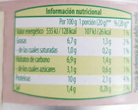 Paté vegetariano - Voedingswaarden - es