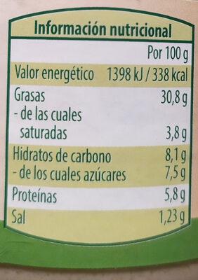 Crema vegetariana - Voedingswaarden