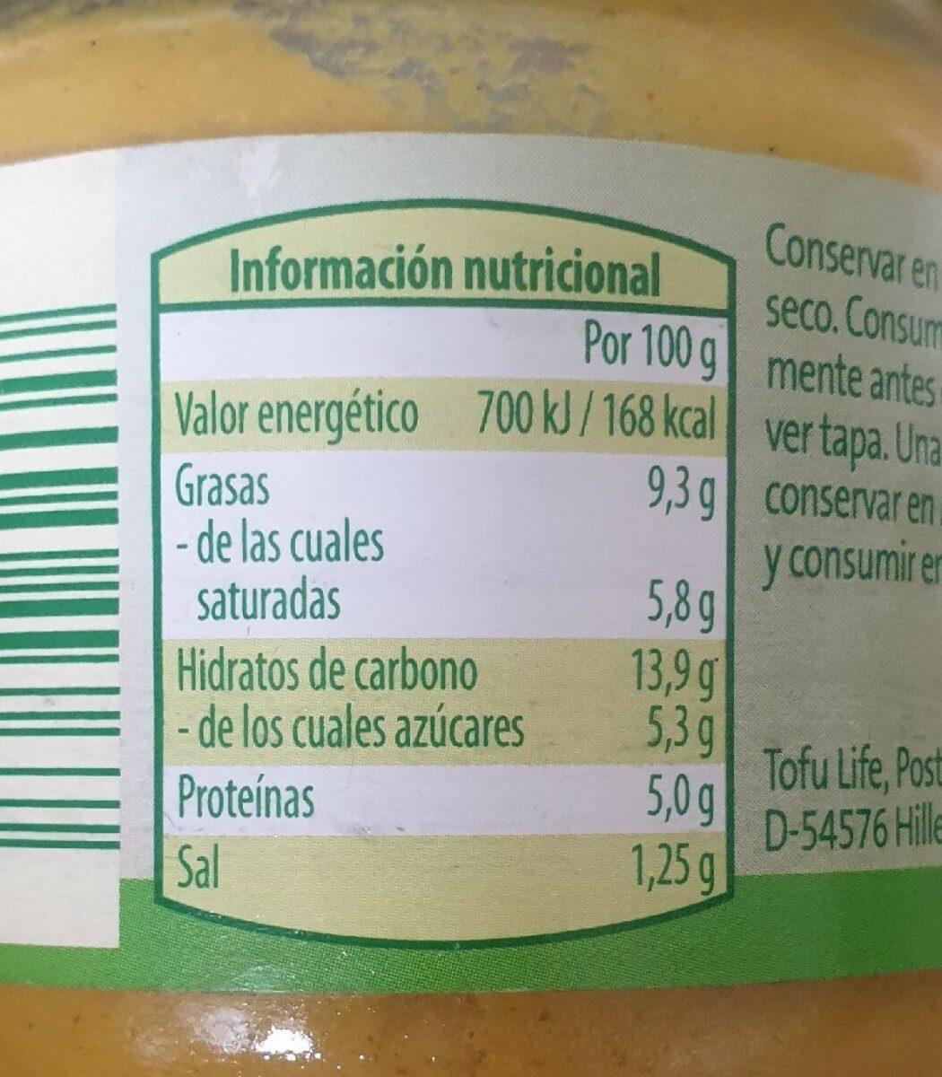 Vegetariana para untar lentejas y coco - Voedingswaarden - es