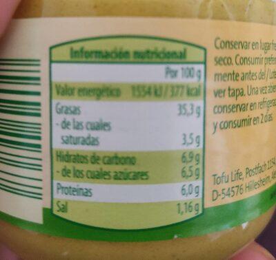 Vegetariano para untar Papaya/Curry - Informazioni nutrizionali - es