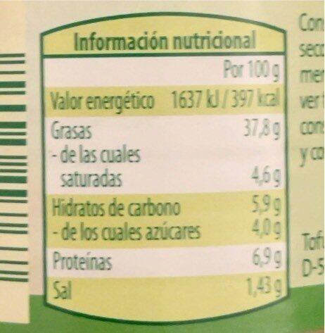 Vegetariano para untar Papaya/Curry - Nutrition facts - es