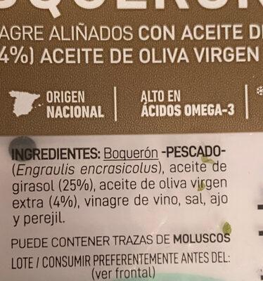 Boquerones en vinagre - Ingrédients