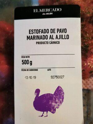 Estofado de pavo marinado al ajillo - Produit - es