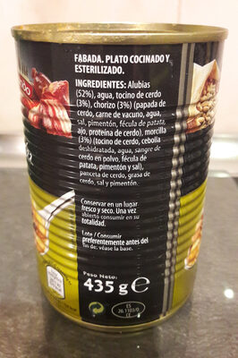 Fabada - Ingredients