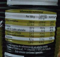 Fabada - Información nutricional - es