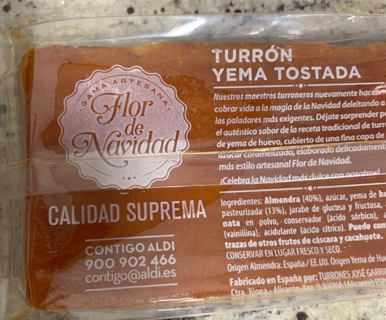 Turron yema tostada - Produit