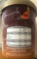 Sabor a vainilla & macadamia crocante - Información nutricional