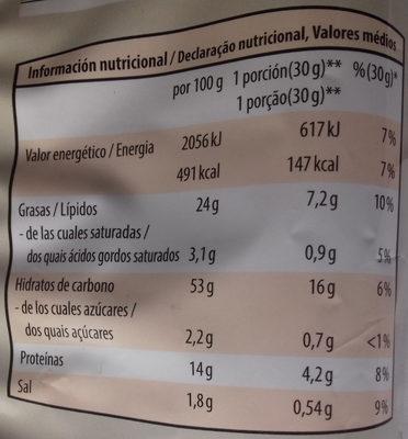 Flips light - Informations nutritionnelles - es