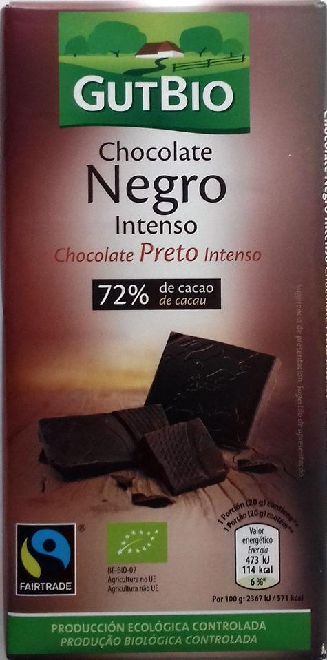Chocolate negro intenso 72% de cacao - Producte
