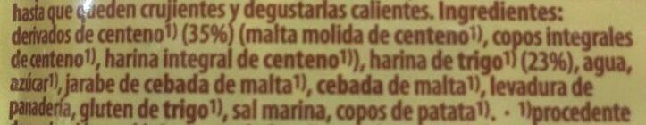 Panecillos de centeno eco - Ingrédients - es