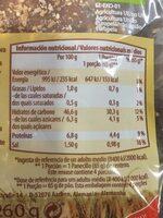 Panecillos de centeno eco - Informations nutritionnelles - es