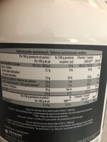 Premium iso Whey protein - Informations nutritionnelles - es