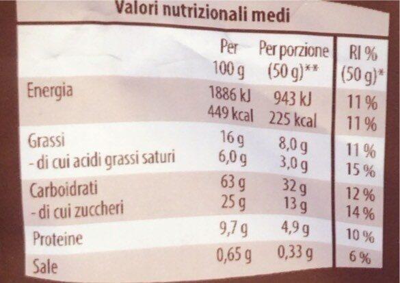 Mursli croccante - Valori nutrizionali - fr