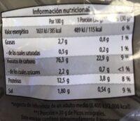 Picos Integrales - Informació nutricional - es